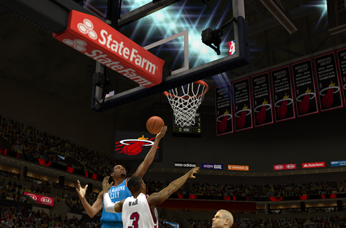 Kevin Durant with the layup in NBA 2K14 PC