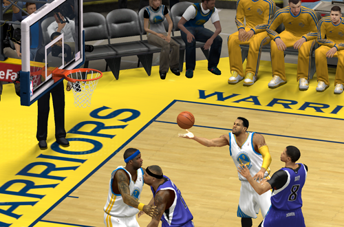 Andre Iguodala lays it up in NBA 2K14 PC