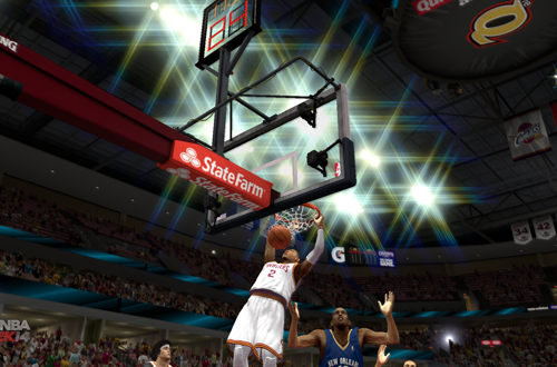 Kyrie Irving dunks in NBA 2K14 PC