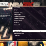NBA 2K15: MyLEAGUE - Settings