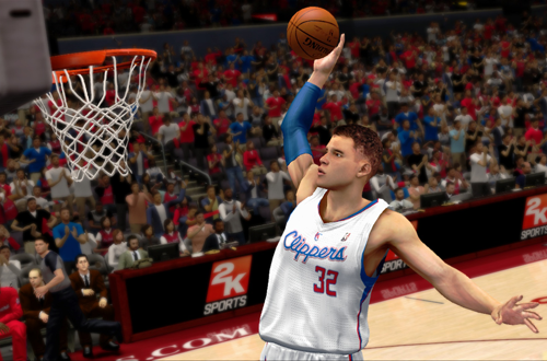 Blake Griffin dunks in NBA 2K13
