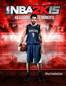 NBA 2K15: Spanish Cover featuring Ricky Rubio