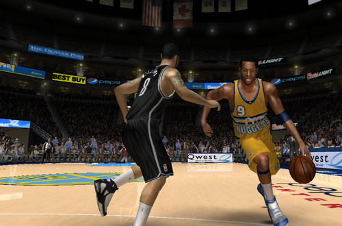 Screenshot of the NLSC 2012/2013 Current Roster for NBA Live 08 PC