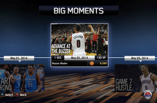 """Advance At The Buzzer"" BIG Moment in NBA Live 14"