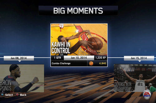 """Kawhi In Control"" BIG Moment in NBA Live 14"