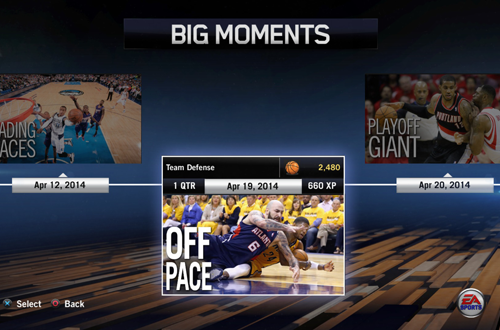 """Off Pace"" BIG Moment in NBA Live 15"