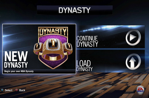 Dynasty Mode in NBA Live 14