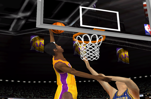 Kobe Bryant dunks in NBA Live 2000