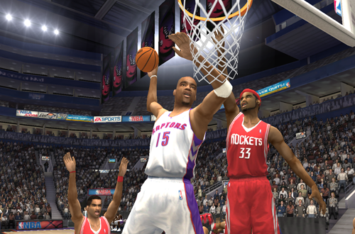 Vince Carter dunks in NBA Live 2004