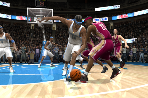 Carmelo Anthony vs. LeBron James in NBA Live 2005