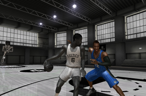 B&W Bill Russell vs Dwight Howard in NBA Live 08