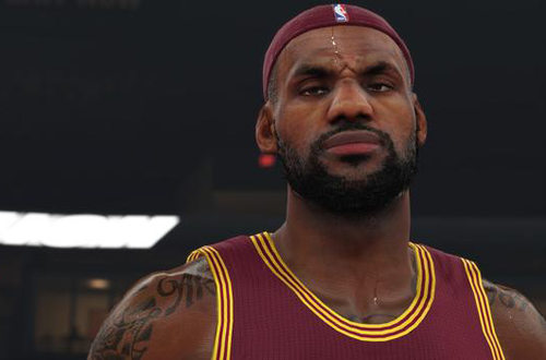 LeBron James in NBA 2K15