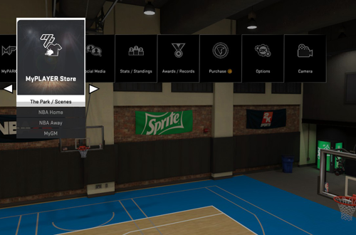 MyCAREER Menu in NBA 2K15
