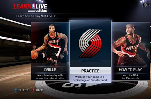 adidas Learn LIVE in NBA Live 15