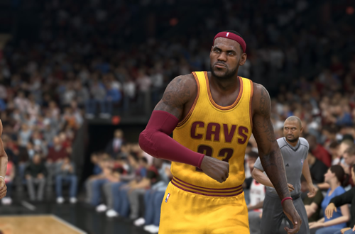 LeBron James in NBA Live 15