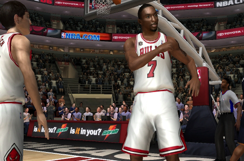 Ben Gordon celebrates in NBA Live 06