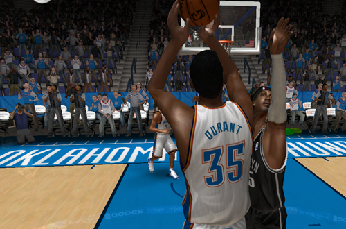 Kevin Durant in the 2012/2013 Roster for NBA Live 08