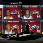 Cleveland Cavaliers' Roster in the November 5th Roster Update for NBA Live 15