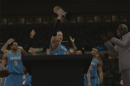 NBA Finals MVP in NBA 2K13's MyCAREER