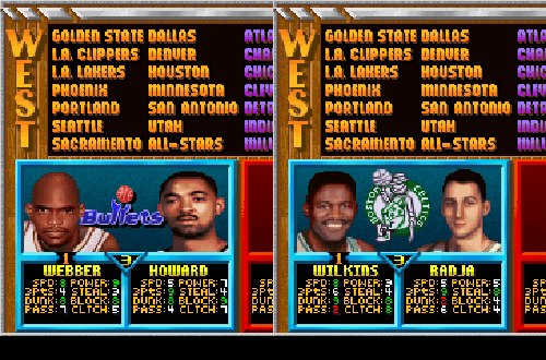 Inflated Three-Point Ratings for Juwan Howard & Dino Radja in NBA Jam Tournament Edition