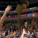 Chicago Bulls winning the championship in NBA Live 06