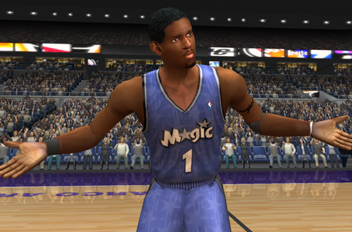 Tracy McGrady pleads his case in NBA Live 2003