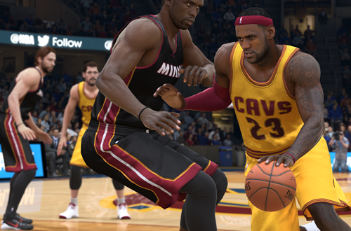 LeBron James vs. the Heat in NBA Live 15