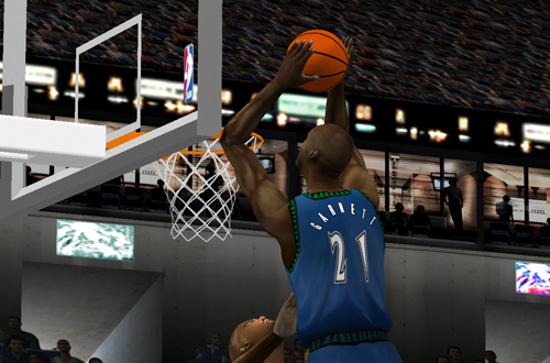 Kevin Garnett in NBA Live 2001