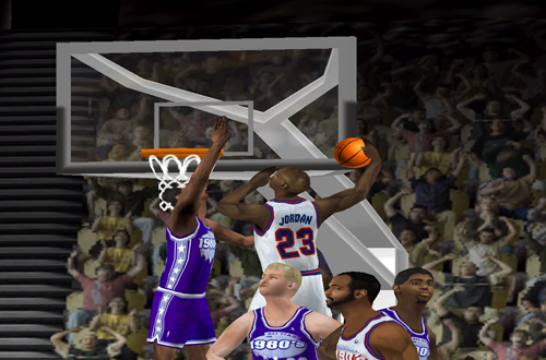 Michael Jordan dunks in NBA Live 2000