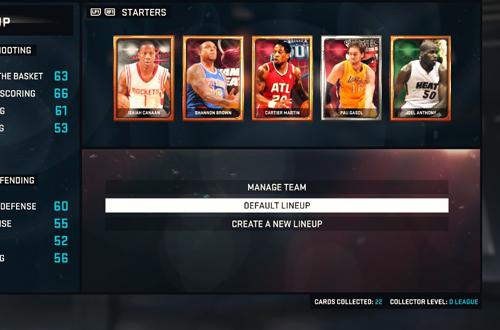 MyTEAM in NBA 2K15