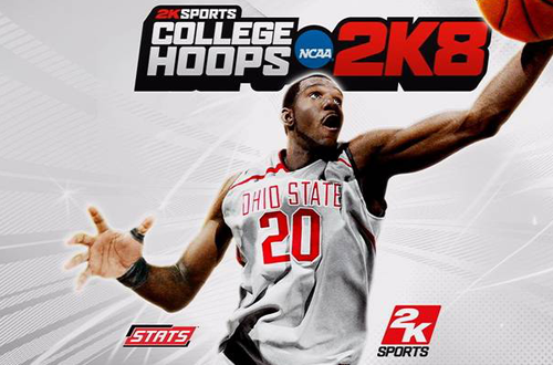 College Hoops 2K8 Cover featuring Greg Oden