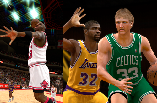 Michael Jordan, Magic Johnson, & Larry Bird in NBA 2K12