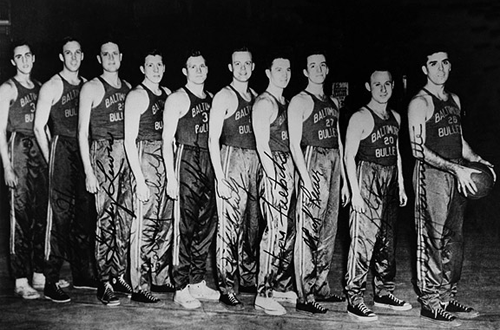 The 1948 BAA Champion Baltimore Bullets