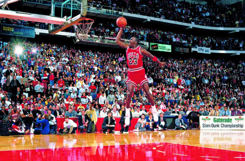 Michael Jordan Dunks From The Free Throw Line
