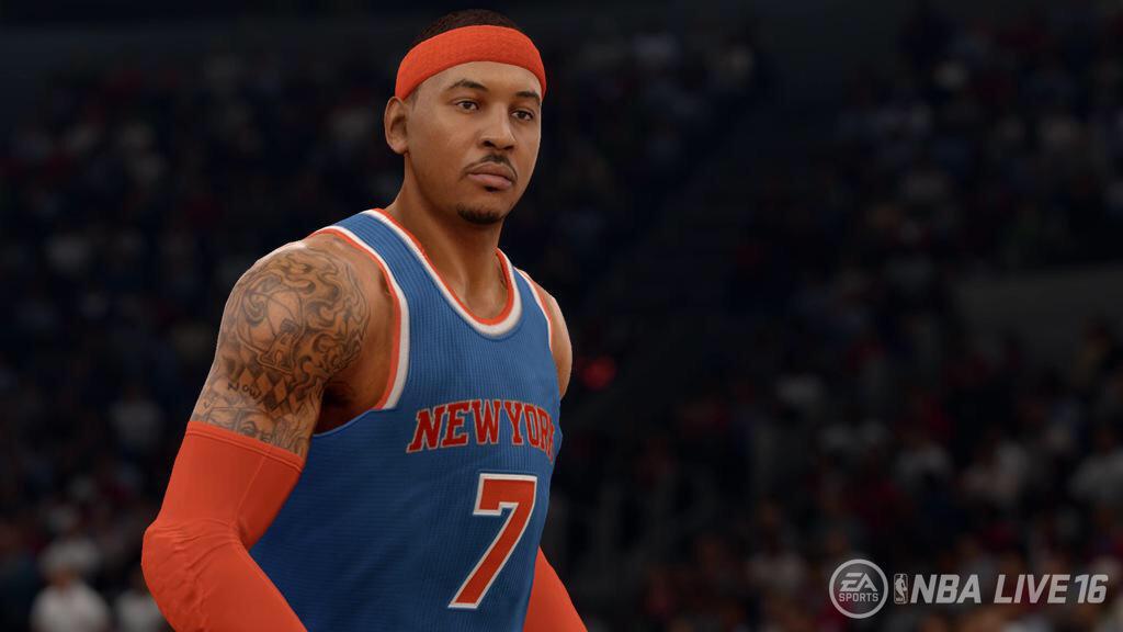 More NBA Live 16 Gameplay News Coming; Melo Screenshot   NLSC