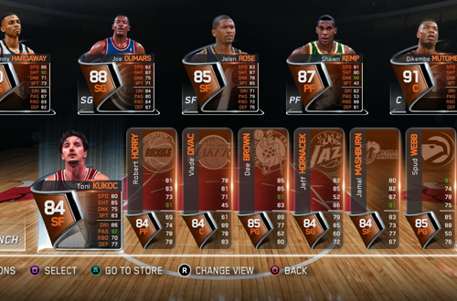 90s Legends Lineup in NBA Live 15 Ultimate Team