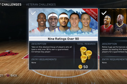 Fantasy Challenges in NBA Live 15 Ultimate Team