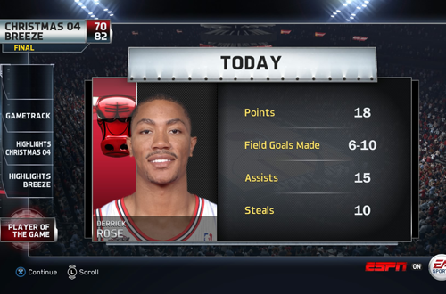 Triple Double with Derrick Rose in NBA Live 15 Ultimate Team