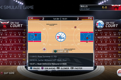 Sim Intervention in NBA Live 15