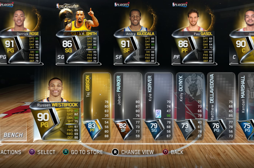 Chicago Breeze in NBA Live 15's Ultimate Team