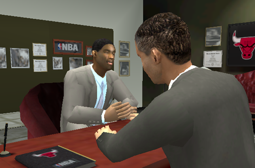 Free Agent Signing in NBA Live 2004