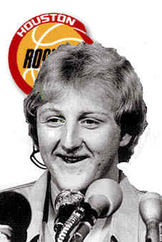 Larry Bird signs with the Houston Rockets in NBA Live 95