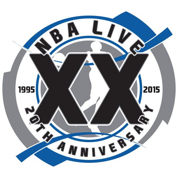 20th Anniversary of NBA Live Logo - Primary
