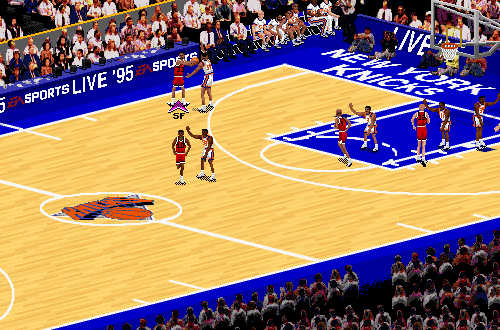 Chicago Bulls vs. New York Knicks in NBA Live 95