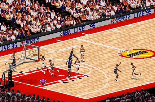 Hakeem Olajuwon dunks in NBA Live 95