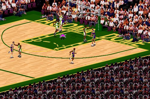 Utah Jazz vs. Seattle SuperSonics in NBA Live 95