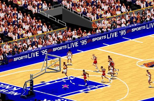 New York Knicks vs. Chicago Bulls in NBA Live 95