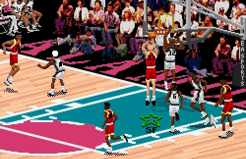 Larry Bird on the Houston Rockets in NBA Live 95