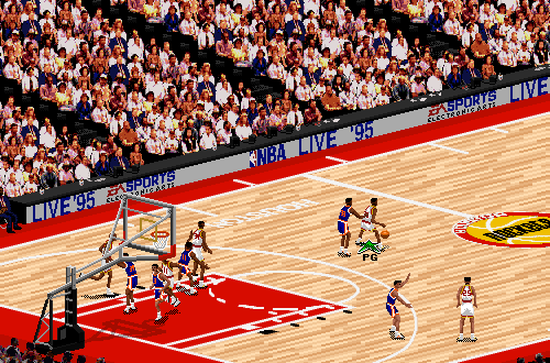 Houston Rockets vs. New York Knicks in NBA Live 95