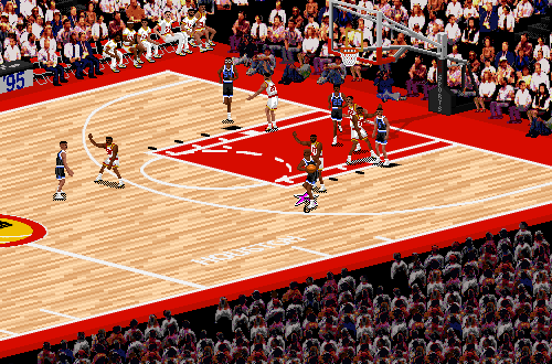 Shaquille O'Neal in NBA Live 95